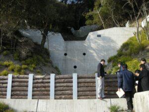 洲本市の治山ダムを視察