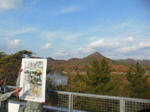 有馬富士公園にて市民団体と懇談