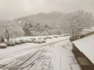 この冬一番の積雪