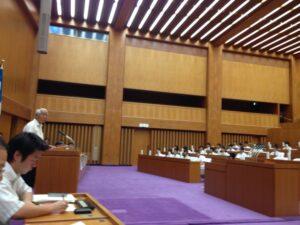 中学生県議会にて人口減少問題を提議