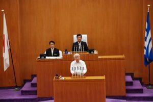 県議会議長就任一か月