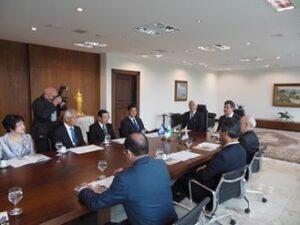 パラナ州と兵庫県との友好提携調印式