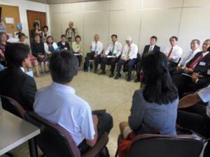 ブラジルからの元県費留学生との意見交換会