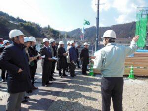 林業振興議連高知県調査その1 CLT建築現場