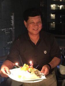 62回目の誕生日をバーテラスで