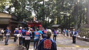 中山八田神社秋祭り