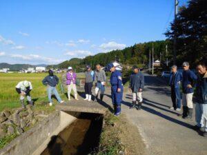 西日本豪雨災害現地調査市島町友政(とんまさ)地区