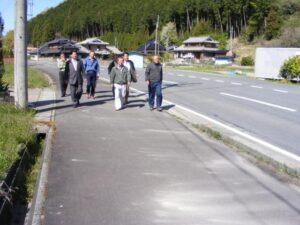 多可柏原線玉巻地区歩道整備に向けての現地調査
